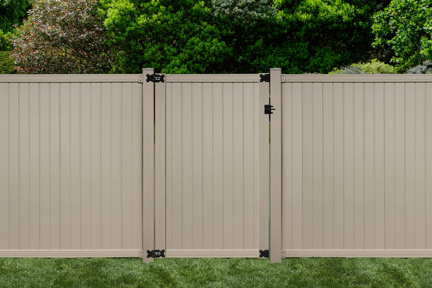 Sixth Avenue Building Products Belfast Privacy Fence and Gate - Tan